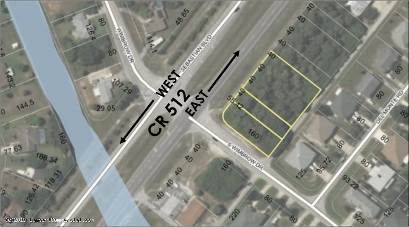 0.79 ACRE COMMERCIAL CORNER FOR SALE - 679, 681 & 683 Sebastian Blvd.